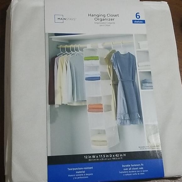 3/$10 Mainstays hanging organizer white